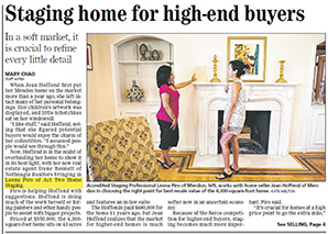 Staging home for high-end buyers