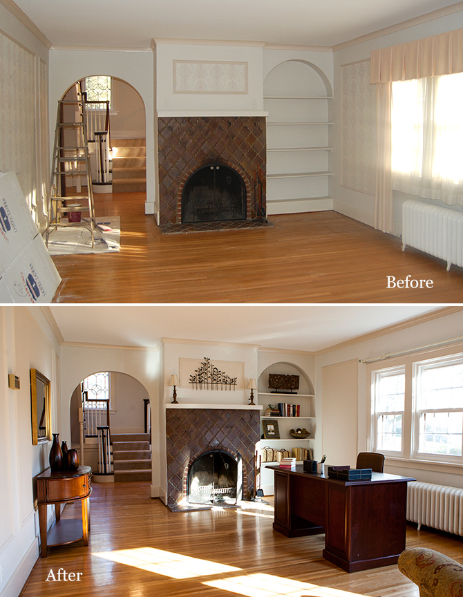 before and after home staging project act two home staging. Black Bedroom Furniture Sets. Home Design Ideas