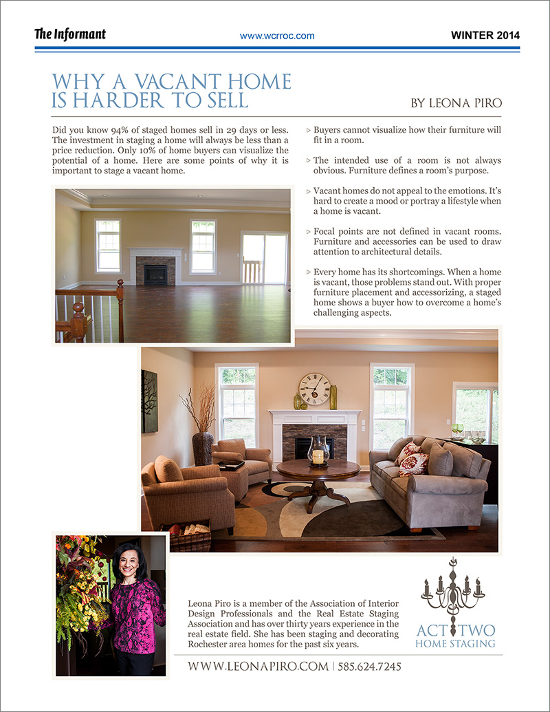 Press Act Two Home Staging