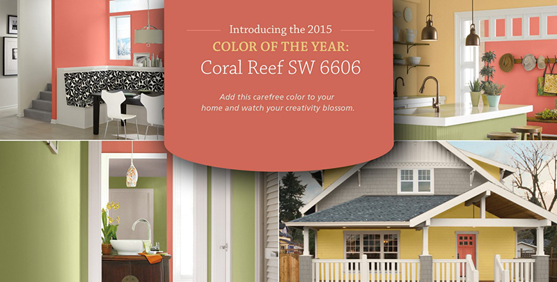 Coral reef sherwin williams 2015 color of the year act for Sherwin williams color of the month october 2017